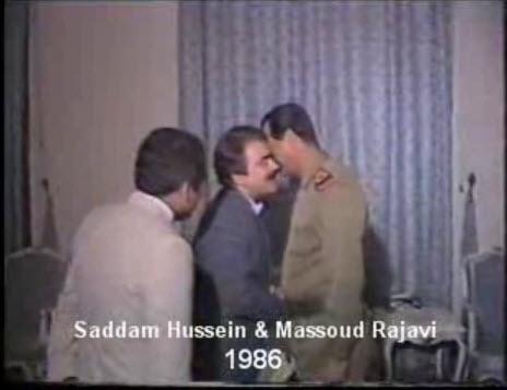 دست بوسی رجوی برای صدام